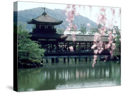 Garden Bridge of Heian-Jingu Shrine in Spring, Kyoto, Japan--Stretched Canvas Print