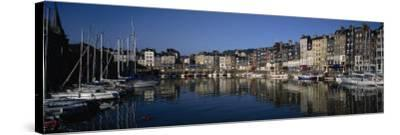 Boats Docked at a Harbor, Honfleur, Normandy, France--Stretched Canvas Print