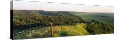 Landscape at a Hillside, Loess Hills, Iowa, USA--Stretched Canvas Print