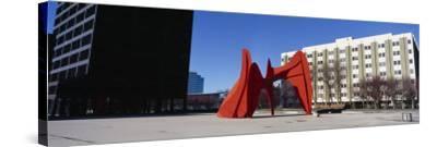 Sculpture in Front of a Building, Alexander Calder Sculpture, Grand Rapids, Michigan, USA--Stretched Canvas Print