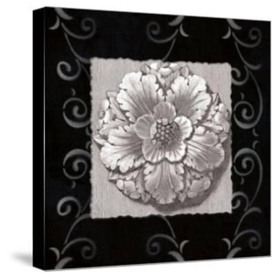 Vintage Classic Rosette IV--Stretched Canvas Print
