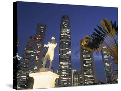 Financial District and Boat Quay, Singapore-Jon Arnold-Stretched Canvas Print