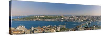 Bosphorus and Golden Horn Panorama from Galata Tower, Istanbul, Turkey-Michele Falzone-Stretched Canvas Print