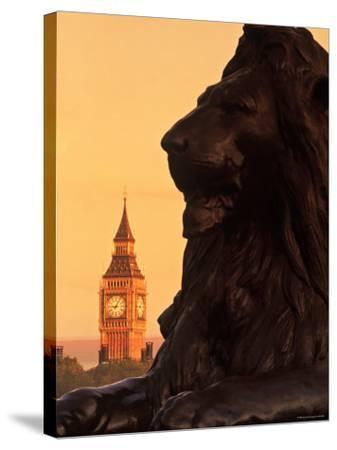 Big Ben from Trafalgar Sq. London, England-Doug Pearson-Stretched Canvas Print