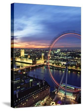 London Eye, London, England-Doug Pearson-Stretched Canvas Print