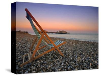 Beach at Brighton, East Sussex, England-Jon Arnold-Stretched Canvas Print