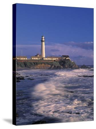 Pigeon Point Lighthouse, California, USA-Walter Bibikow-Stretched Canvas Print