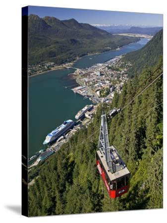 View from Mt. Robert'S, Juneau, Alaska, USA-Walter Bibikow-Stretched Canvas Print