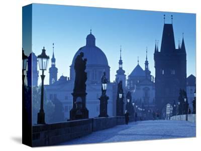 Charles Bridge, Prague, Czech Republic-Walter Bibikow-Stretched Canvas Print
