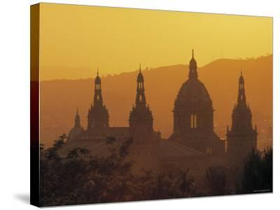 National Palace, Barcelona, Spain-Jon Arnold-Stretched Canvas Print
