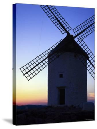 Windmill at Consuegra, Ruta de Don Quixote, Castilla La Mancha, Spain, Europe-Gavin Hellier-Stretched Canvas Print