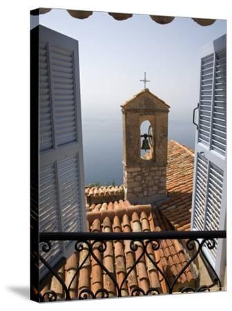 Church Bell Tower, Eze, French Riviera, Cote d'Azur, France-Doug Pearson-Stretched Canvas Print