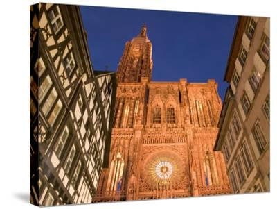 Cathedrale Notre Dame, Strasbourg, Alsace, France-Walter Bibikow-Stretched Canvas Print
