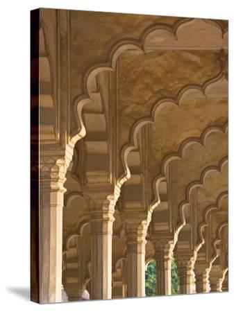 Hall of Public Audiences, Agra Fort, Agra, Uttar Pradesh, India-Walter Bibikow-Stretched Canvas Print