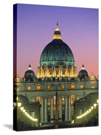 St. Peter's Basilica, Rome, Italy-Walter Bibikow-Stretched Canvas Print