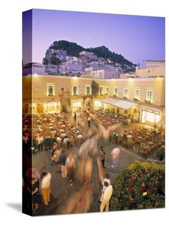 Piazzetta, Capri Town, Capri, Bay of Naples, Italy-Demetrio Carrasco-Stretched Canvas Print