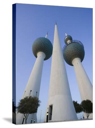 Kuwait Towers, Kuwait City, Kuwait-Walter Bibikow-Stretched Canvas Print