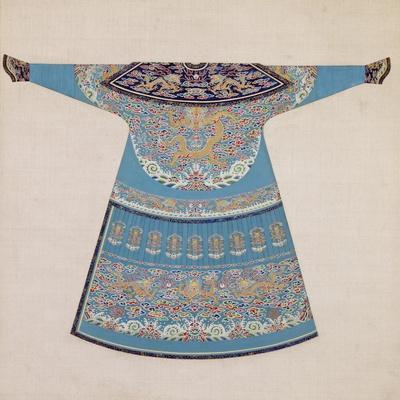 The Back of a Summer Court Robe Worn by the Emperor, China--Stretched Canvas Print