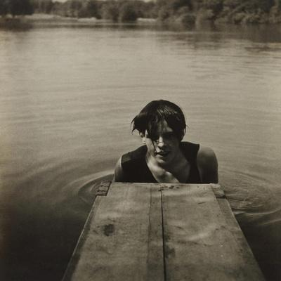 Man in Water-Curtis Moffat-Stretched Canvas Print