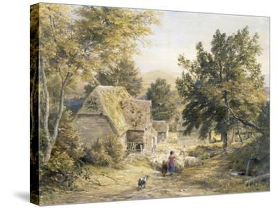 Farm Yard Near Princes Risborough, Buckinghamshire, England-Samuel Palmer-Stretched Canvas Print