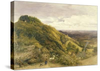 Landscape with a Woman Driving Sheep-Samuel Palmer-Stretched Canvas Print