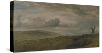 Windmill Near Brighton, East Sussex-John Constable-Stretched Canvas Print