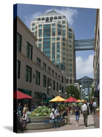 City Center Pedestrian Zone, Downtown Oakland, California-Walter Bibikow-Stretched Canvas Print