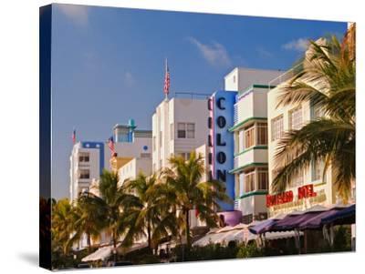 Art Deco District of South Beach, Miami Beach, Florida-Adam Jones-Stretched Canvas Print