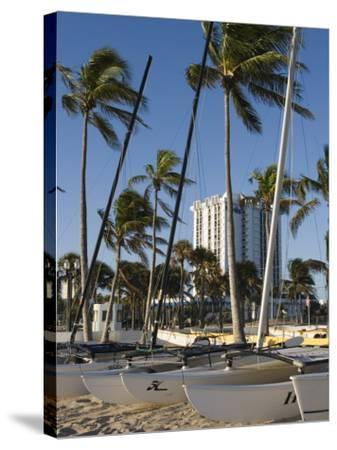 Fort Lauderdale Beach, Fort Lauderdale, Florida-Walter Bibikow-Stretched Canvas Print