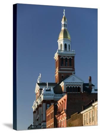 Dubuque County Courthouse, Dubuque, Iowa-Walter Bibikow-Stretched Canvas Print