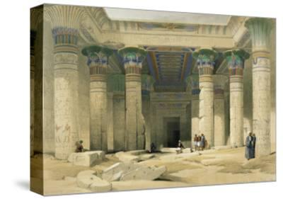 Grand Portico of the Temple of Philae, Nubia-David Roberts-Stretched Canvas Print