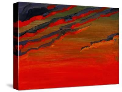 Sky Portrait of a Sunset-John Newcomb-Stretched Canvas Print