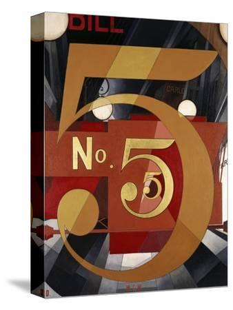 I Saw the Figure 5 in Gold-Charles Demuth-Stretched Canvas Print