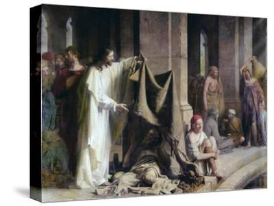 The Pool of Bethesda-Carl Bloch-Stretched Canvas Print