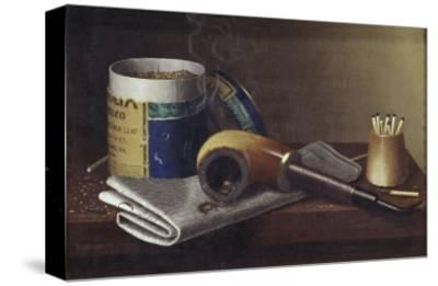 Smoking Scene-William Michael Harnett-Stretched Canvas Print