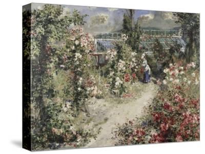 La Serre, Greenhouse-Pierre-Auguste Renoir-Stretched Canvas Print
