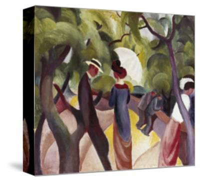 Promenade-Auguste Macke-Stretched Canvas Print