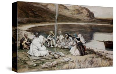 Christ Eating with His Disciples-James Tissot-Stretched Canvas Print