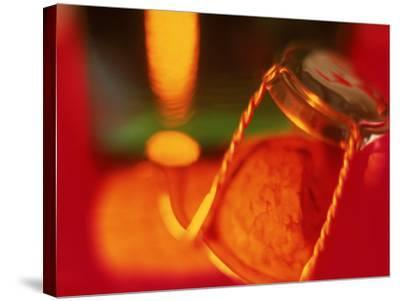 Champagne Cork and Cover-Peter Adams-Stretched Canvas Print