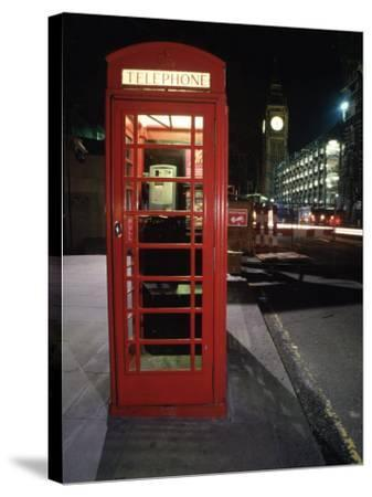 Telephone Booth, London, England-Dan Gair-Stretched Canvas Print