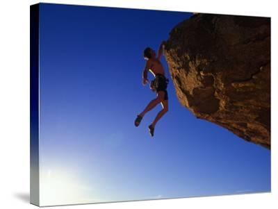 Rock Climber-Greg Epperson-Stretched Canvas Print