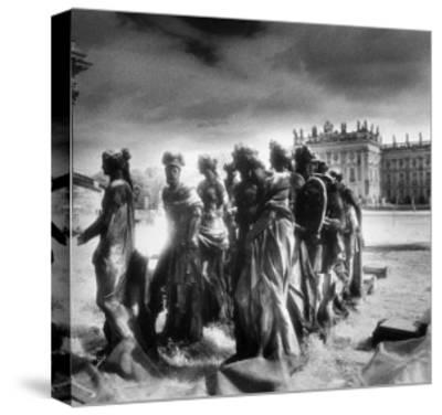 Statues Infront of the Neus Palais, Potsdam, Germany-Simon Marsden-Stretched Canvas Print