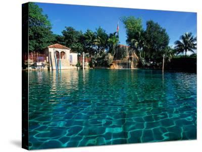 Venetian Pool, Coral Gables, Miami, FL-Robin Hill-Stretched Canvas Print