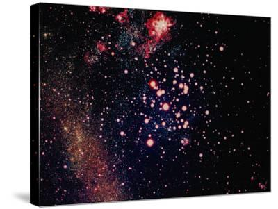 Stars and Nebula-Terry Why-Stretched Canvas Print