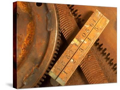 Dilapidated Work Tools-Terry Why-Stretched Canvas Print