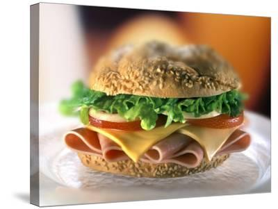 Ham and Cheese Sandwich-ATU Studios-Stretched Canvas Print