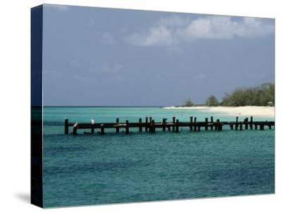 An Old Pier on Grand Turk Island-Wolcott Henry-Stretched Canvas Print