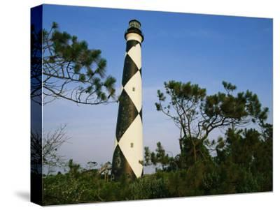 View of Cape Lookout Lighthouse-Stephen Alvarez-Stretched Canvas Print