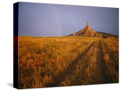 Scenic View of Western Nebraska Landscape Along the Oregon Trail-Michael S^ Lewis-Stretched Canvas Print