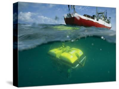 An Unmanned Submersible Conducts Research in the Black Sea-Randy Olson-Stretched Canvas Print